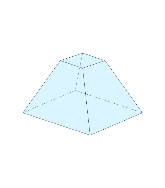 Square frustum, pyramid with flat top,