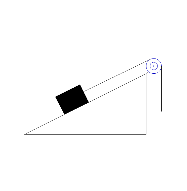 Inclined plane with block 2, inclined plane, block,