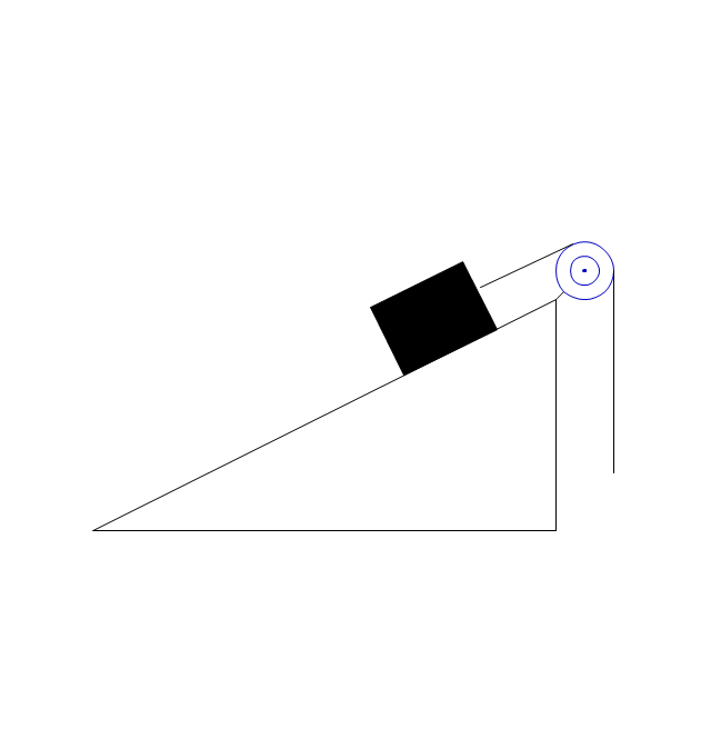 Inclined plane with block, inclined plane, block,