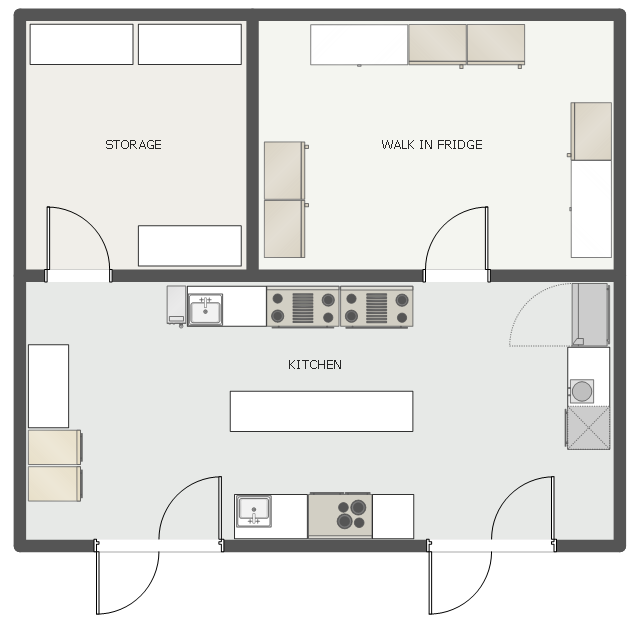 Restaurant Kitchen Floor Plan Cafe And Restaurant Floor Plans Restaurant Floor Plan Maker How To Place A Walk In Refrigerator In A Floor Plan
