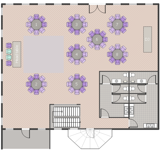 Wedding Floor Plan   Bathroom  Vector stencils library