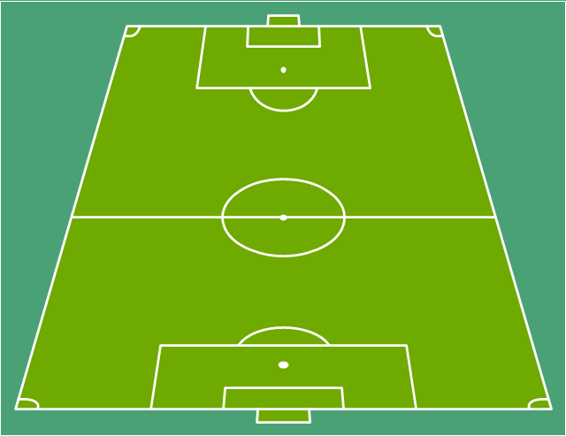 Soccer field template, end zone view football field, end zone view soccer field,