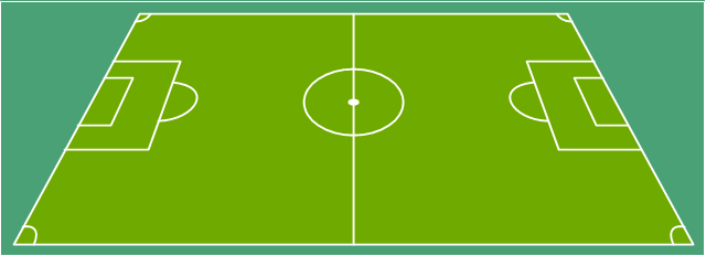 sideline view association football pitch template