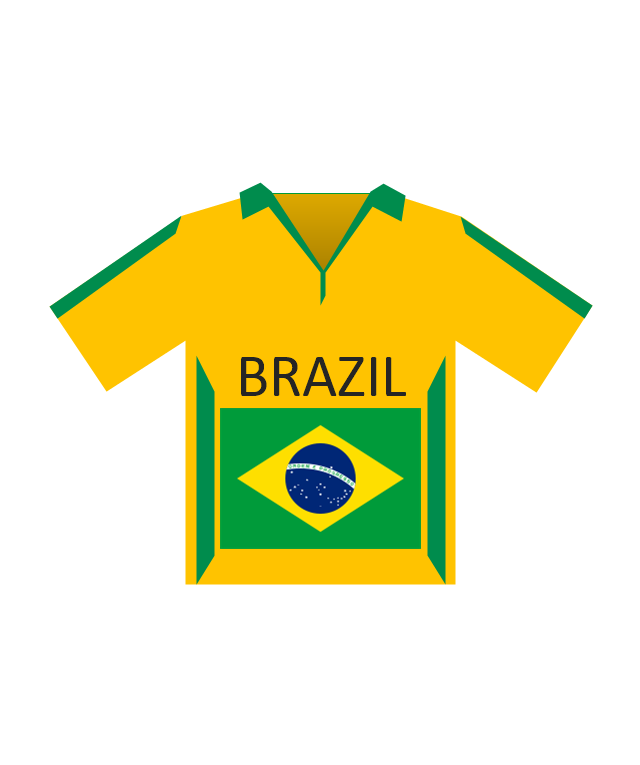 Team shirt (Brazil), soccer team shirt, Brazil,