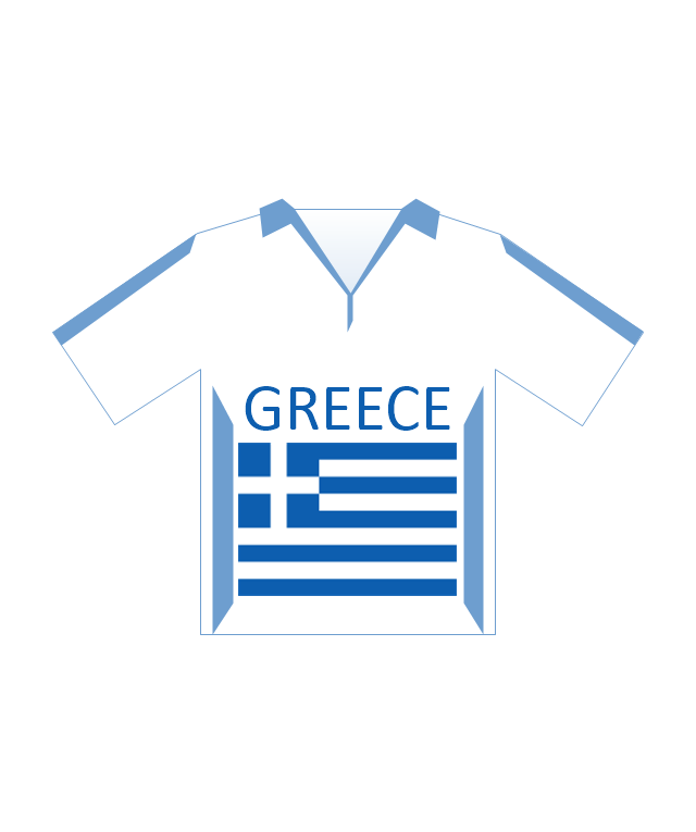 Team shirt (Greece), soccer team shirt, Greece,