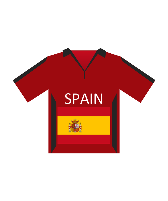 Team shirt (Spain), soccer team shirt, Spain,