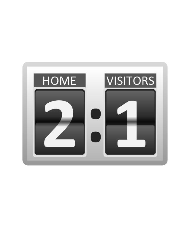 Scoreboard, football scoreboard,