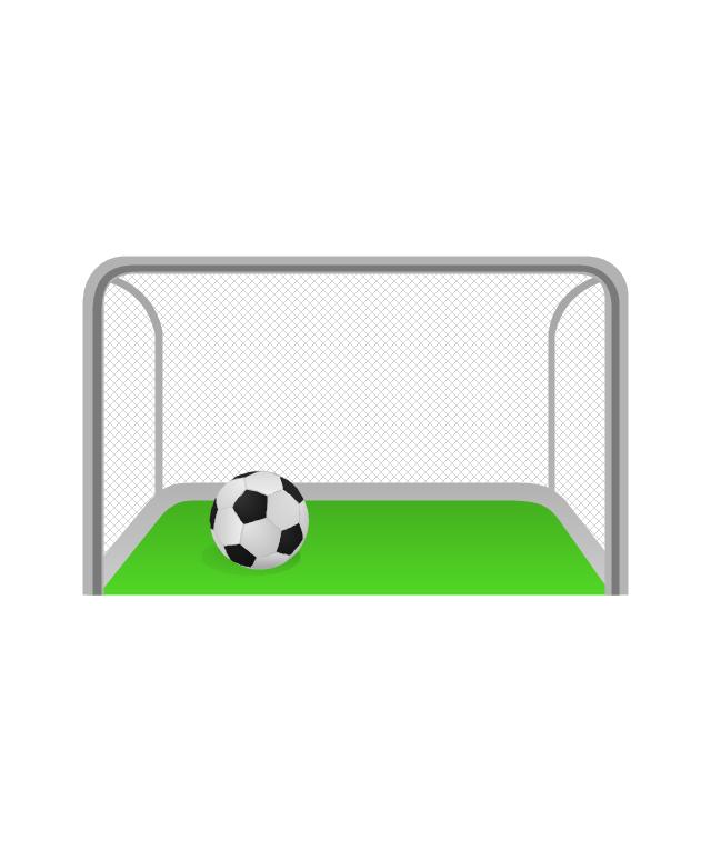 Soccer goal, soccer goal, soccer ball,