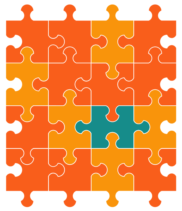 Marketing chart, puzzle,