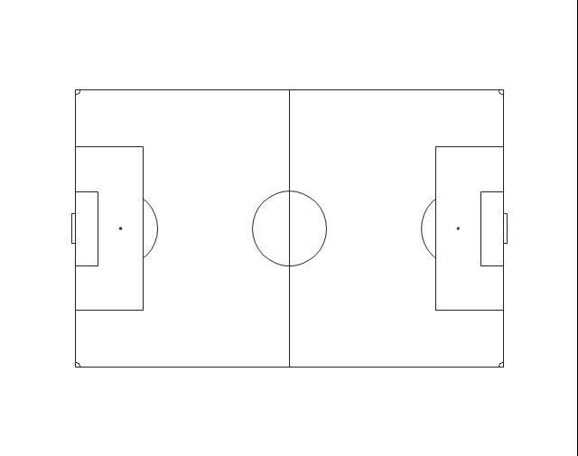Horizontal soccer (football) field, horizontal football field, horizontal soccer field,