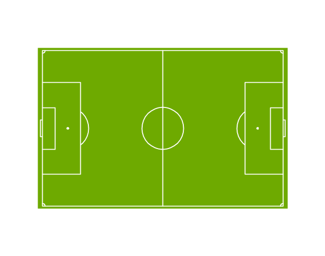 Horizontal colored soccer (football) field, horizontal football field, horizontal soccer field,