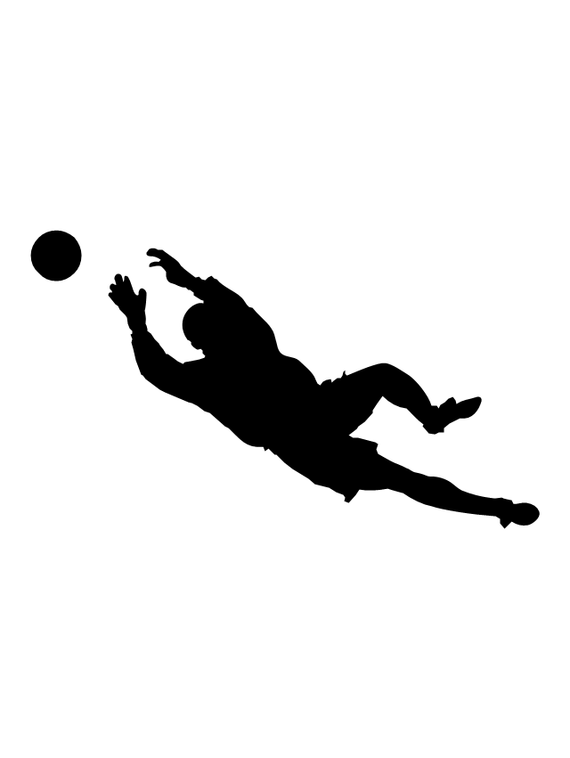 Goalkeeper, goalkeeper silhouette,