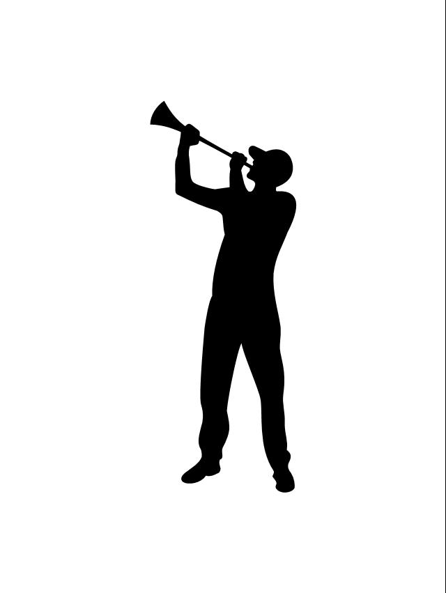 Sport fan, sport fan silhouette,