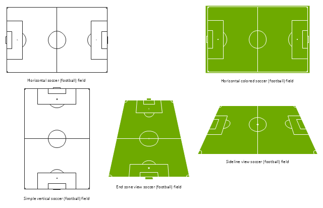 Association football pitch templates, vertical football field, vertical soccer field, sideline view football field, sideline view soccer field, horizontal football field, horizontal soccer field, end zone view football field, end zone view soccer field,