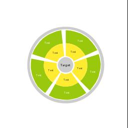Target diagram 3, stakeholder diagram, circular diagram,