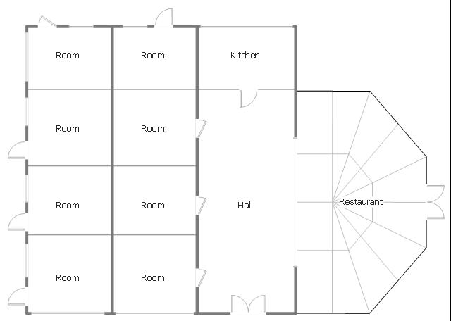 Mini hotel floor plan floor plan examples create floor for Window floor plan