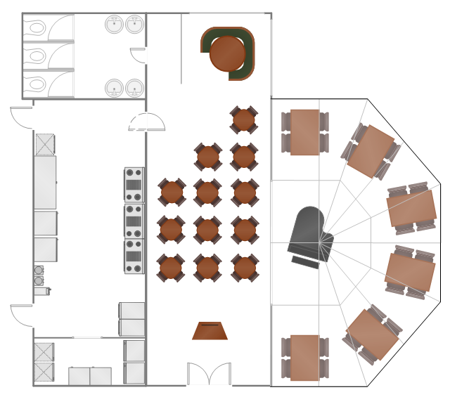 Fast Casual Restaurant Floor Plan