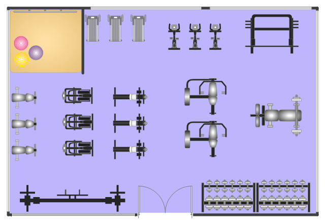 Gym layout for Gym floor plan design software free