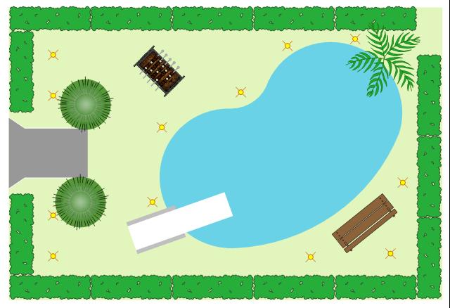 Site plan, perennial border, iPhone 6, conifer shrub,