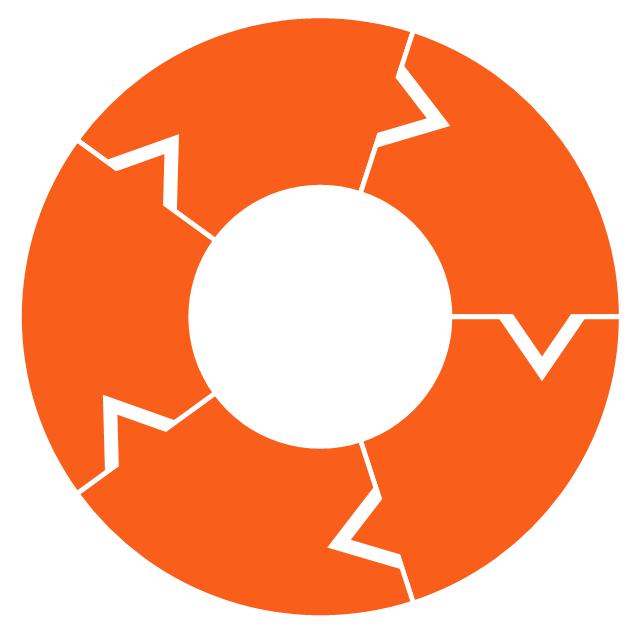 Ring chart - 5 elements, doughnut chart, pie chart, ring chart, donut chart,