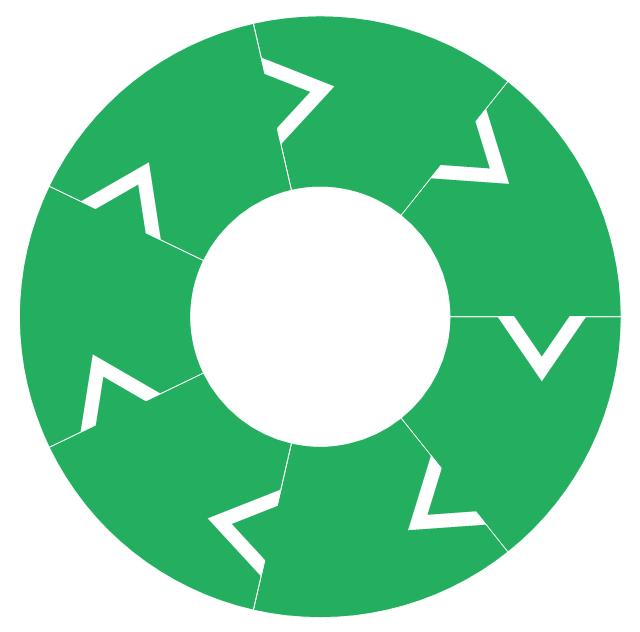Ring chart - 7 elements, doughnut chart, pie chart, ring chart, donut chart,