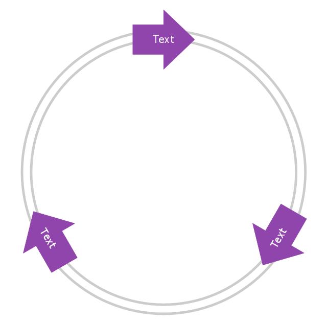 Arrow circle diagram - 3 elements, arrow circle diagram,