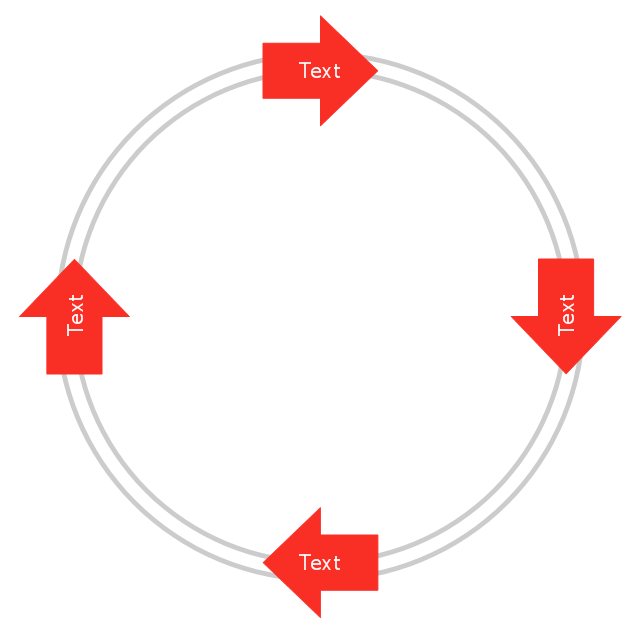 Arrow circle diagram - 4 elements, arrow circle diagram,