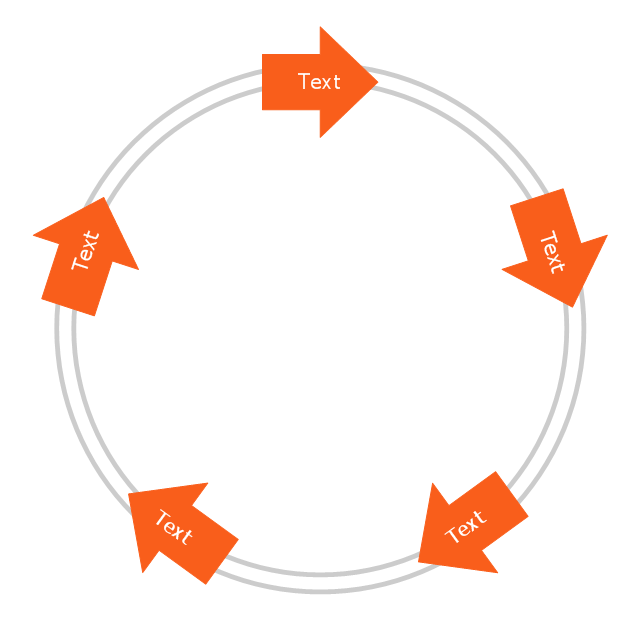 Arrow circle diagram - 5 elements, arrow circle diagram,