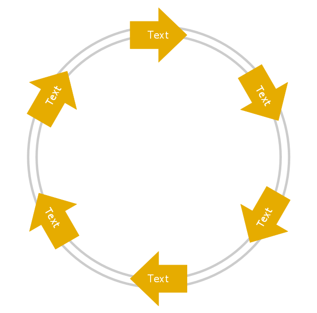 Arrow circle diagram - 6 elements, arrow circle diagram,