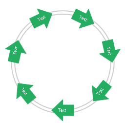 Arrow circle diagram - 7 elements, arrow circle diagram,