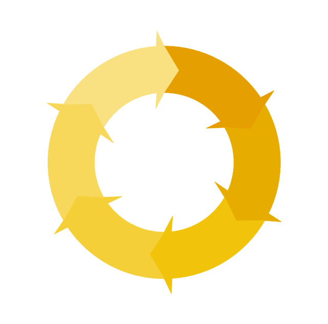 Circular arrows diagram - 6 elements, circular arrows diagram,
