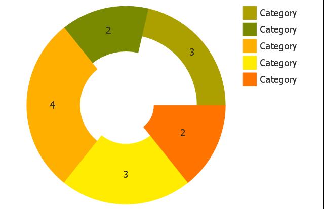 Ring chart (light) 2, donut chart, ring chart,