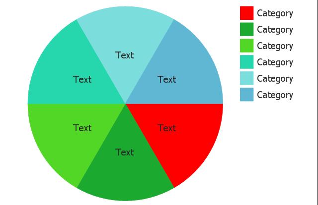 Percentage pie chart (light), pie chart, percentage,