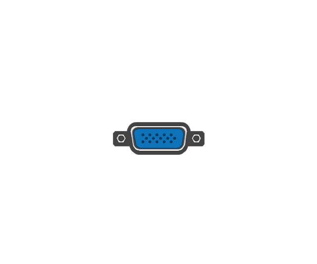 Audio And Video Connectors Vector Stencils Library