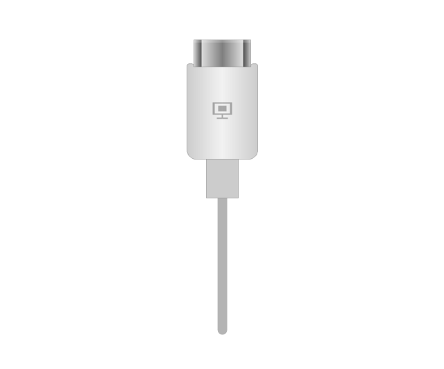 HDMI plug, white, HDMI, plug, connector,