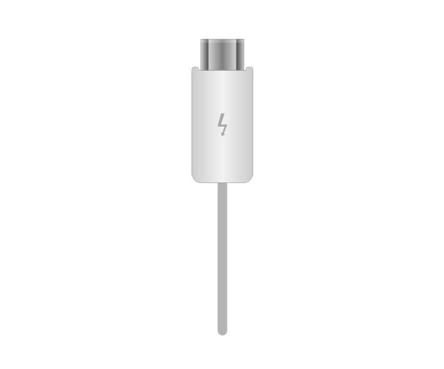 Thunderbolt plug, thunderbolt, plug, connector,