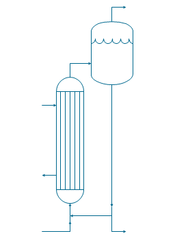 Evaporator, evaporator, circulating evaporator,
