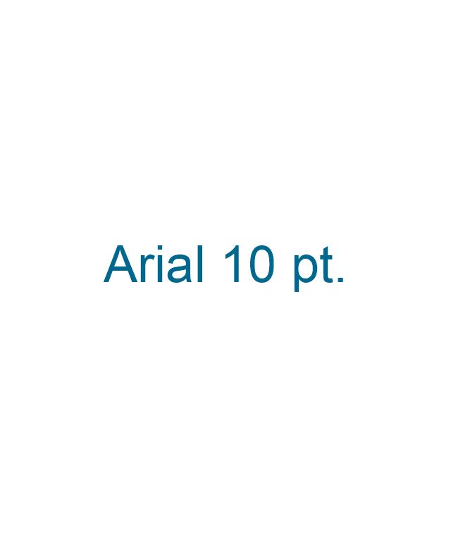10 pt Arial text block,