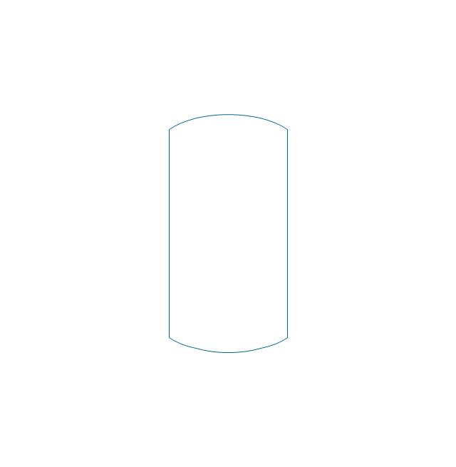 Vessel curved ends, vessel, drum, pressure vessel,