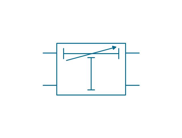 Variable artificial delay element, delay element,