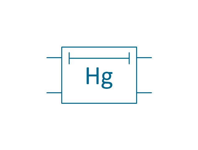 Mercury delay element, delay element,