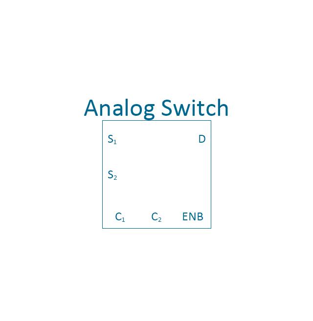 Analog switch 2, 2-channel, analog switch,