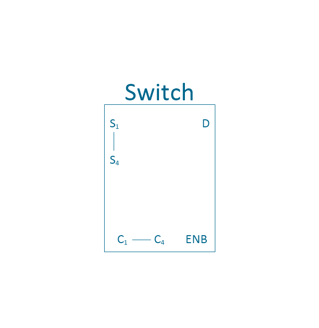 Analog switch 4, 4-channel, analog switch,