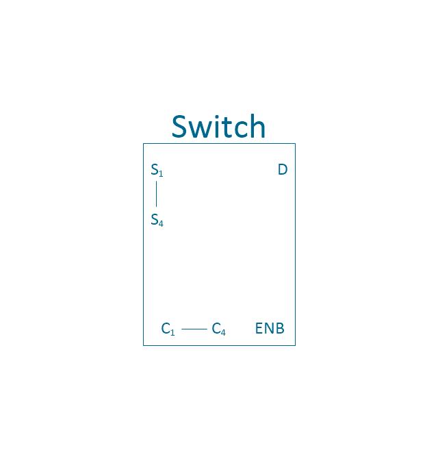 Analog switch 4, 4-channel, analog switch,