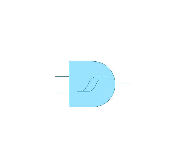 Logic Gate Diagram Vector Stencils Library