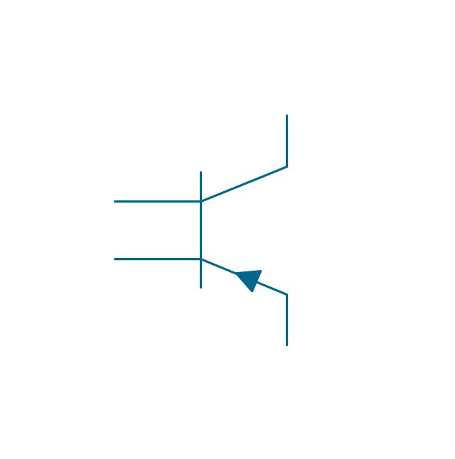 Transverse biased base, PNP, transistor with transverse biased base, PNP,