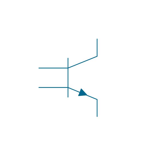 Transverse biased base, NPN, transistor with transverse biased base, NPN,