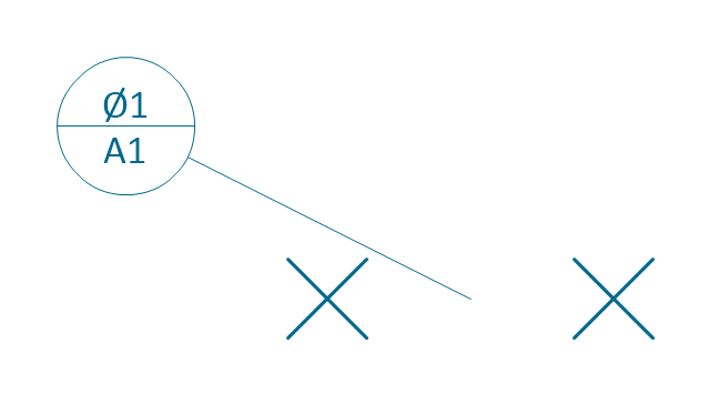 Target line, datum target, line,