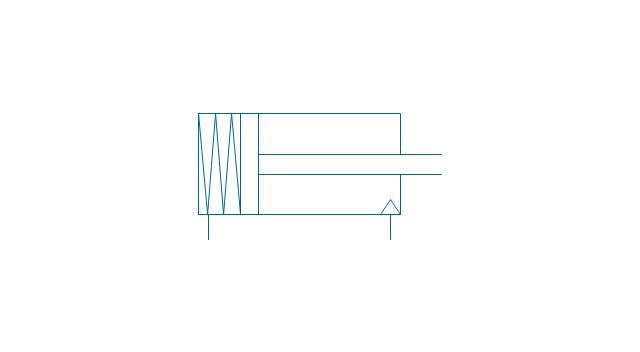 Sgl-act. cylinder, pneum., left spring, single-acting, pneumatic, cylinder,