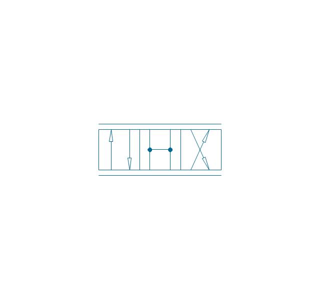 4/3 valve, pneum., infinite positions, four-port, three-position, valve,